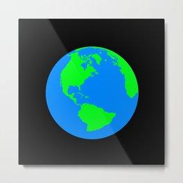 World Map / Earth / Globe Metal Print