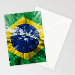 Extruded flag of Brazil Stationery Cards