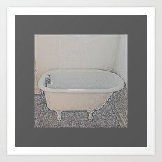Old-Time Bathtub Art Print
