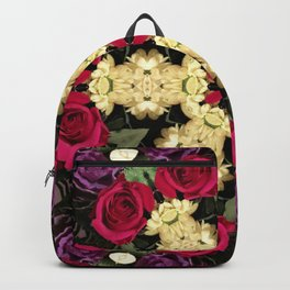Ring of Roses - Abstract Floral Art by Fluid Nature Backpack