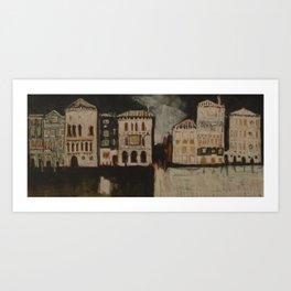 Venice in Black Art Print
