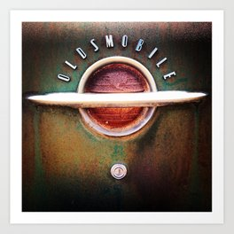 Rusty Salvage Yard Oldsmobile Art Print
