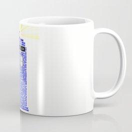 Doctor Who TARDIS Words of Wisdom Coffee Mug