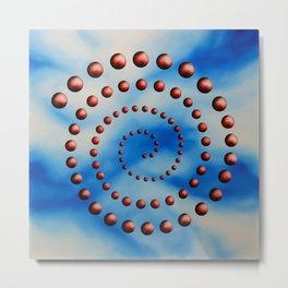 Spiral reincarnation oil painting Metal Print