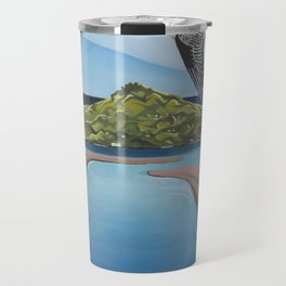 Godwit over Paku Travel Mug