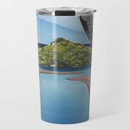 Godwit over Paku Travel Mug