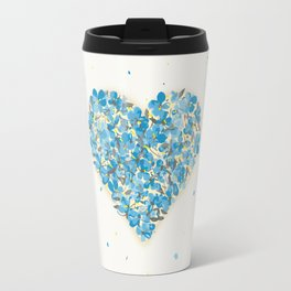 forget-me-nots heart Travel Mug