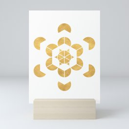 HEXAHEDRON CUBE sacred geometry Mini Art Print
