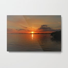The River Afire Metal Print