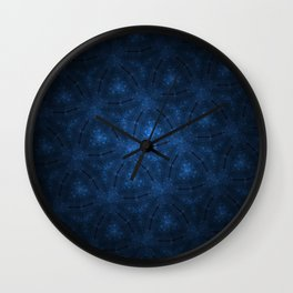 Sparkling triangle pattern Wall Clock