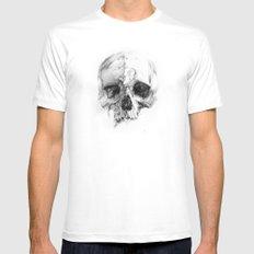 Skull 46 Mens Fitted Tee White MEDIUM