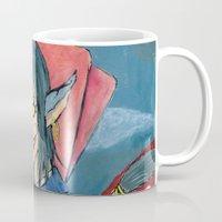 cheshire Mugs featuring Cheshire by SofusGirl