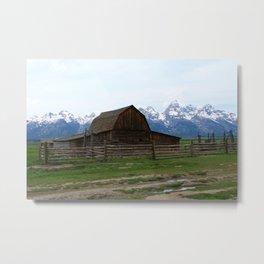 Mormon Row Iconic Barn Metal Print