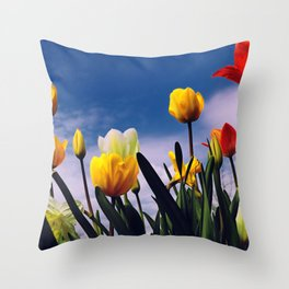Relax With The Tulips Throw Pillow