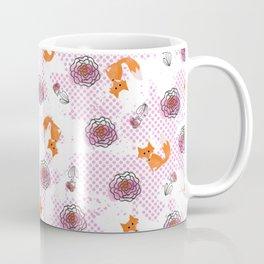 Flowering Fox, Fox, Flowers, Flower Art, Fox Art Coffee Mug