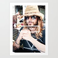 jared leto Art Prints featuring Jared Leto by ScarTissue