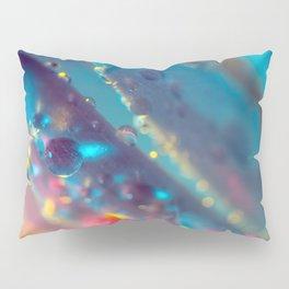 Electric Blue Floral Dew   Pillow Sham