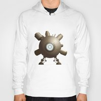 spaceship Hoodies featuring Steampunk Spaceship by FOUR SECOND MEMORY