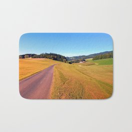 Country road with scenery | landscape photography Bath Mat