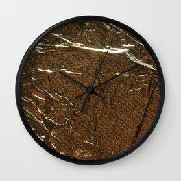Golden Wrinkles Wall Clock