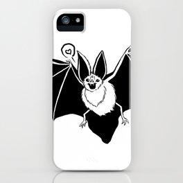 Mr. Bat Loves You iPhone Case
