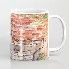 Dubrovnik Croatia ink & watercolor illustration Coffee Mug