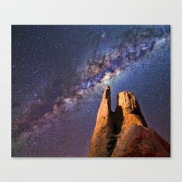 Night sky iii - galaxy Canvas Print