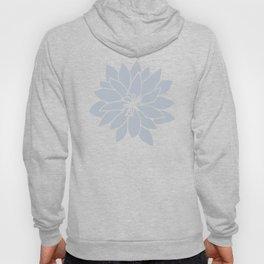 Flower Bluebell Blue on White Hoody