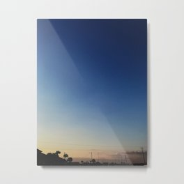 Sunset in Navarre Metal Print