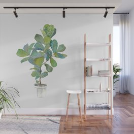 Fiddle Leaf Fig Tree Wall Mural