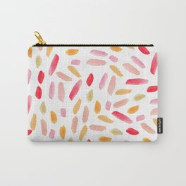 Artistic modern blush pink orange watercolor brushstrokes Carry-All Pouch