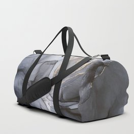 Calm but Dramatic Light Monochromatic Black & Grey Abstract Duffle Bag