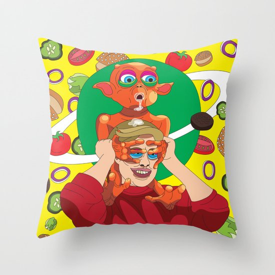 Mysterious Alien Creature. Throw Pillow