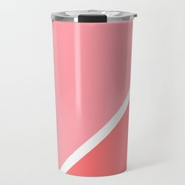 Modern minimalist geometric pink coral color block Travel Mug