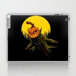Pumpkin scarecrow Laptop & iPad Skin