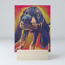 Coonhound Puppy Mini Art Print