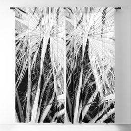 Palm Trees Tropical Vibes White Silhouette Blackout Curtain