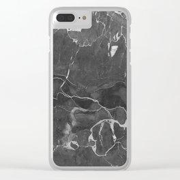 Grey Shadows Clear iPhone Case