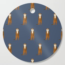 Meerkats all around Cutting Board