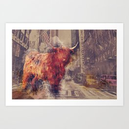 Sightseeing Cattle Art Print