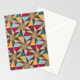 Modern Marquetry (Color 2) Stationery Cards