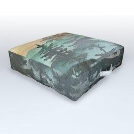 Pine Trees Outdoor Floor Cushion