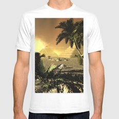 Pyramid in the sunet Mens Fitted Tee MEDIUM White