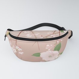 Japanese Spring Flowers Vintage Kimono Pattern Fanny Pack