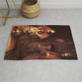 The Return of the Prodigal Son Painting By Rembrandt Rug