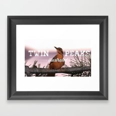 Opening bird with title Framed Art Print