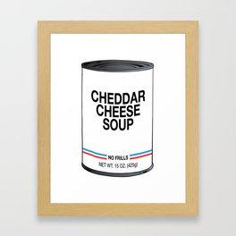 11 Cheddar Cheese Framed Art Print