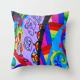 Up close - Guatemalan Kites Throw Pillow