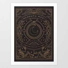 Memento Mori - Prepare to Party Art Print