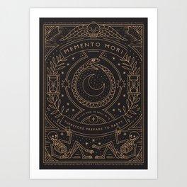 Memento Mori - Prepare to Party Art Print